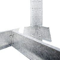 Стелаж Бюджет 4001 180х90х45 Меткас, 100 кг/полку, оцинкований, металевий, 5 полиць, сталева полку, фото 6