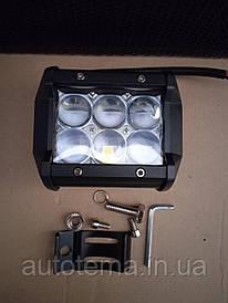 Автомобільна світлодіодна LED фара 9.5 см 7.5 см Автофара LED на дах (6 LED) 5D-18W-SPOT (95 х 70 х 80)