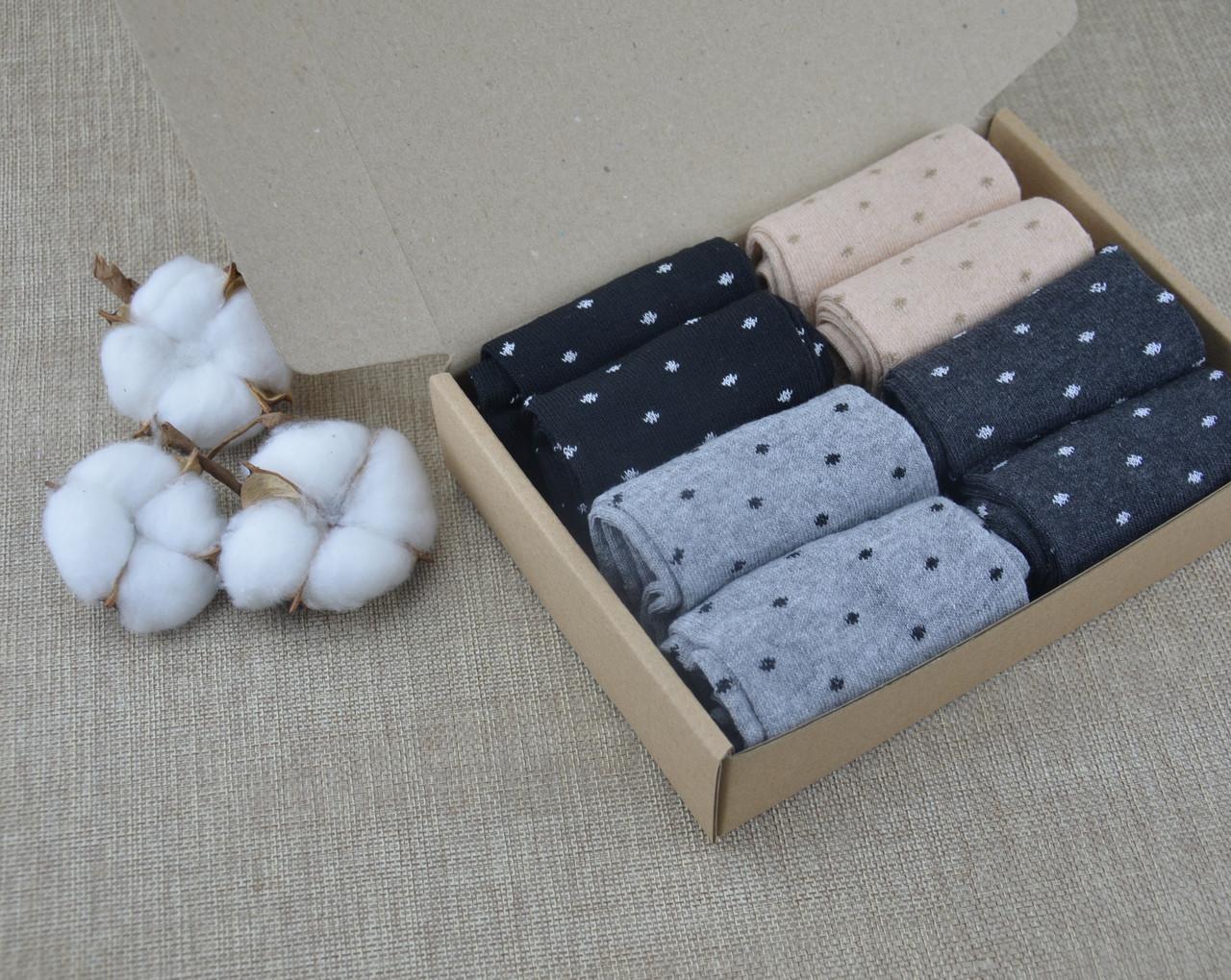 Набор женских носков 8 пар - Комплект женских носков микс, 36-41 размер