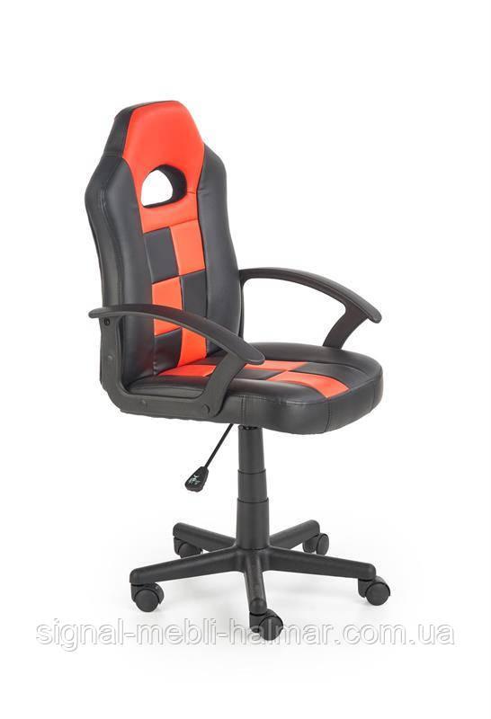 Кресло компьютерное STORM черный / красный из экокожи (Halmar)