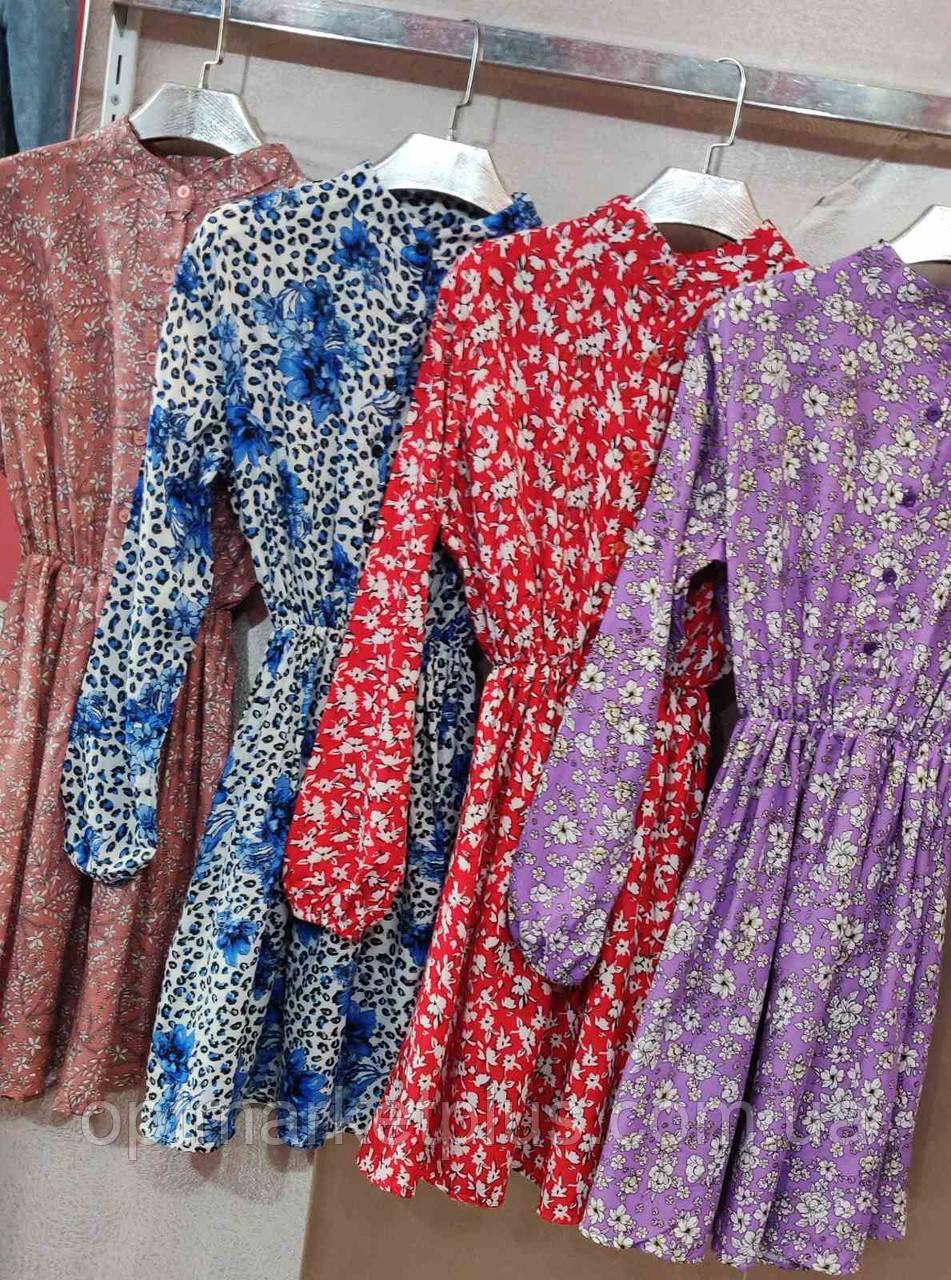 Платья женские, штапель (S-L) оптом купить от склада 7 км Одесса
