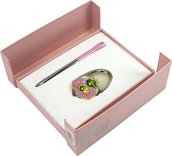 """Набір подар. """"Langres"""" №122027-10 Fairy Tale: ручка кульк.+гачок для сумки рожевий"""