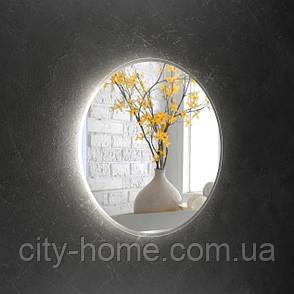 Зеркало круглое с LED подсветкой 750 х 750 мм, фото 2