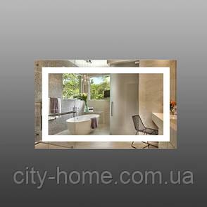 Дзеркало  настінне з LED підсвічуванням 800 х 500 мм, фото 2