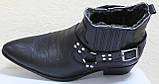 Казаки зимние черные мужские кожаные, казаки от производителя ЛЕ101, фото 5