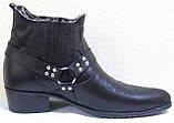 Казаки зимние черные мужские кожаные, казаки от производителя ЛЕ101, фото 3