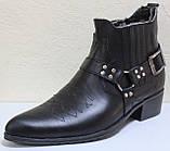 Казаки зимние черные мужские кожаные, казаки от производителя ЛЕ101, фото 2