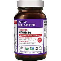 Ферментований вітамін D3, Fermented Vitamin D3, New Chapter, 30 таблеток