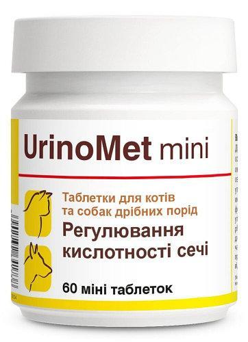 Уриномет Міні вітамінна добавка для профілактики сечокам'яної хвороби у собак і кішок, 60 міні таблеток
