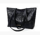 Практичная черная женская сумка, фото 3