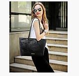 Практичная черная женская сумка, фото 4