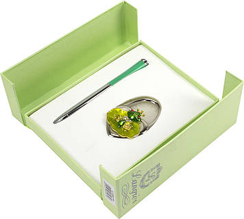 """Набір подар. """"Langres"""" №122027-04 Fairy Tale: ручка кульк.+гачок для сумки зелений"""