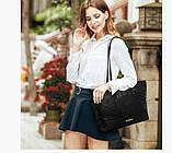 Практичная черная женская сумка, фото 5