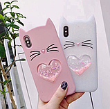 3D Чохол для Xiaomi Redmi 4A Котик з вушками і сердечком, фото 4