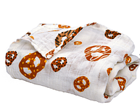 Муслиновая пеленка - плед для новорожденного 122х122 см ТМ PERLIM PINPIN MS35