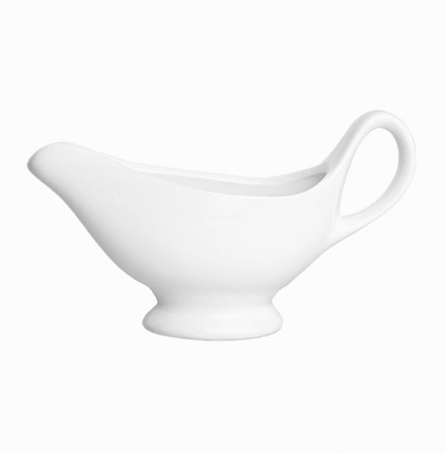 Соусник білий порцеляновий з ручкою 150 мл (HR1566)