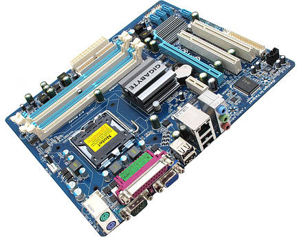 Мат. плата GIGABYTE GA-EG41MF-US2H LGA775, підтримка Xeon, (б/в), фото 2
