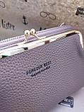 Женский кошелёк-сумочка цвет чай с молоком, фото 7