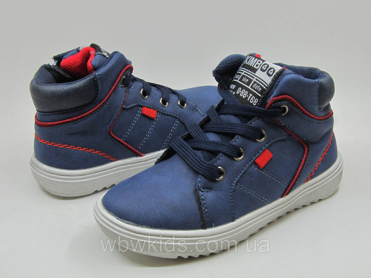 Ботинки детские Kimboo JN164-2K синие на мальчика