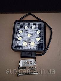 Робочий LED фара 27 Вт 11см 11см Лідер
