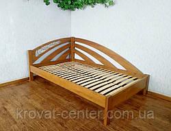 """Кутова полуторне ліжко з масиву натурального дерева """"Веселка"""" від виробника, фото 3"""