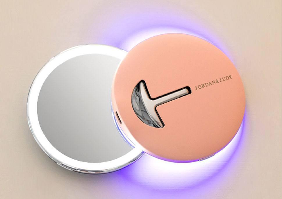 Зеркало для макияжа Xiaomi Youpin Jordan & Judy NV030 с подсветкой  Pink