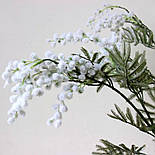 Искусственная Мимоза ветка белая 87 см, фото 10