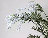 Искусственная Мимоза ветка белая 87 см, фото 7