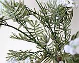 Искусственная Мимоза ветка белая 87 см, фото 8