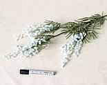 Искусственная Мимоза ветка белая 87 см, фото 6