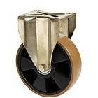 """УСИЛЕННЫЕ колеса для тележек из полиуретана с неповоротной крепежной панелью """"Medium"""""""