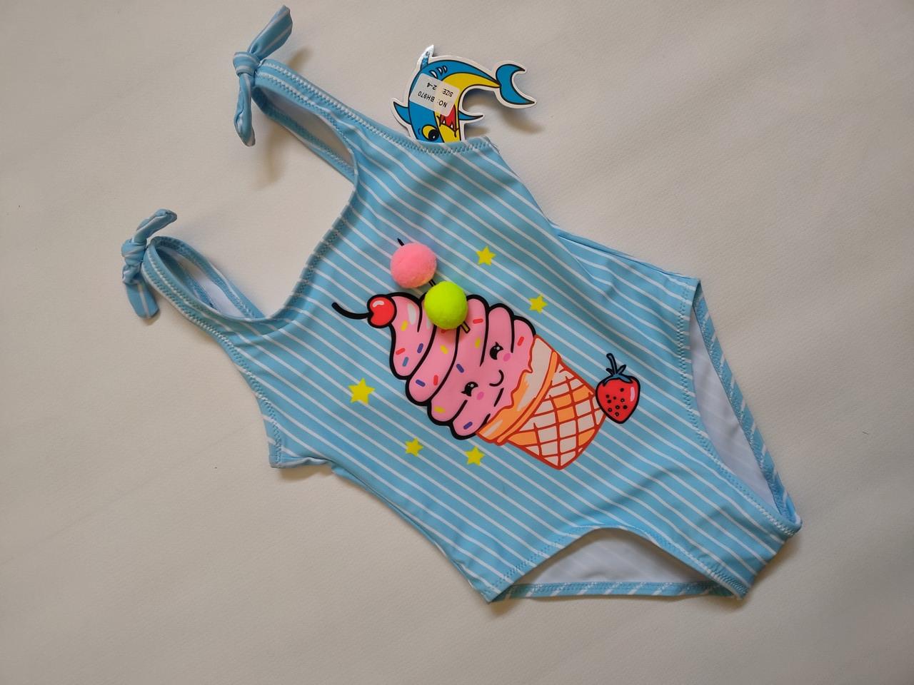 Купальник  слитный детский TERES  Пломбирчик  970 TERES  голубой (в наличии  28 30 32  размеры)