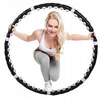Хулахуп для похудения живота с шипами шариками круг массажный обруч разборной с магнитами для талии