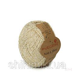 Трикотажний шнур з люрексом Knit & Shine, колір Ванільний
