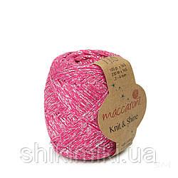 Трикотажний шнур з люрексом Knit & Shine, колір Маджента