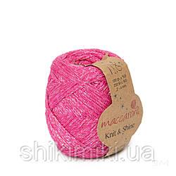 Трикотажний шнур з люрексом Knit & Shine, колір Фуксія