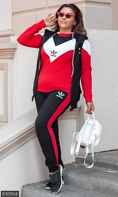 Спортивний жіночий велюровий костюм