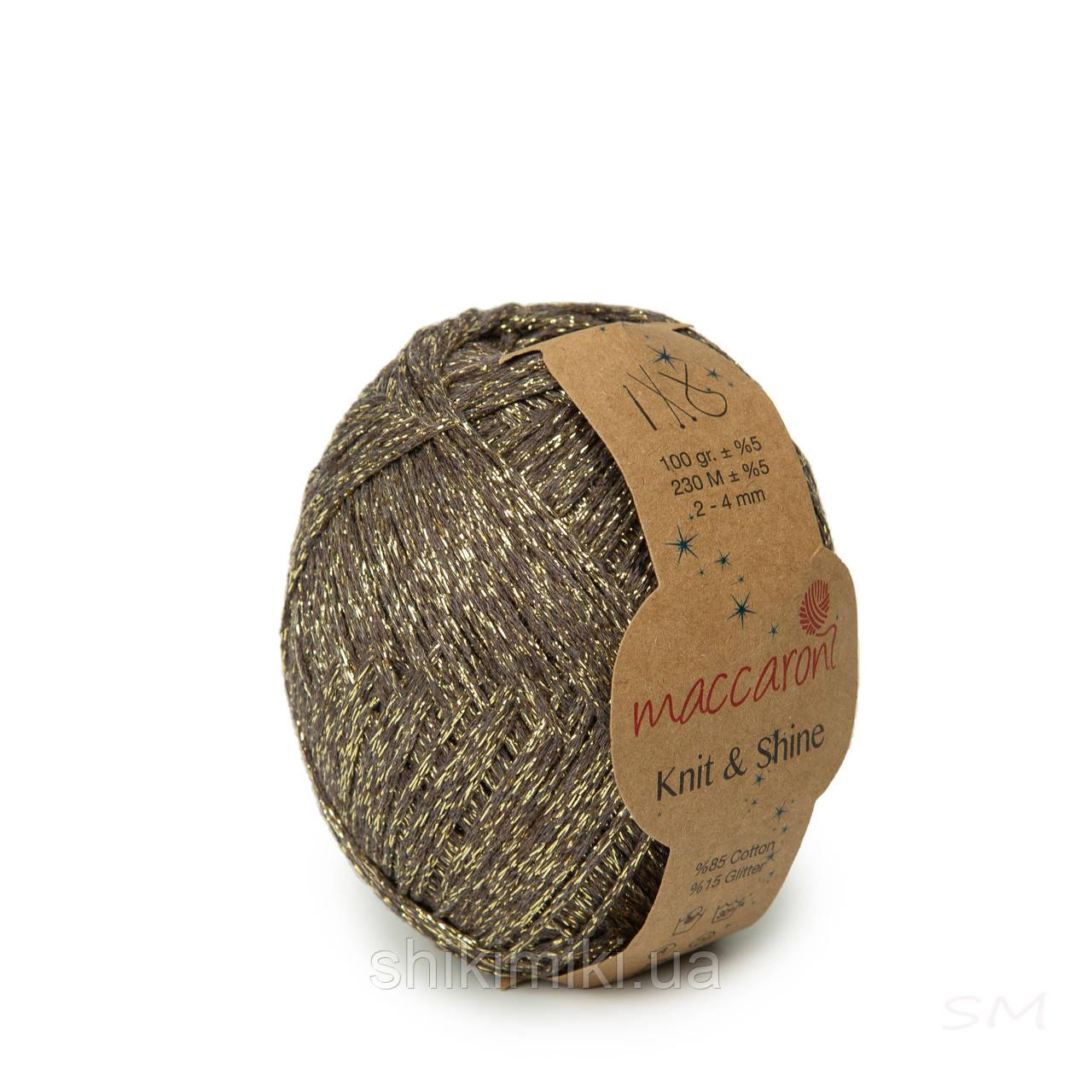 Трикотажный шнур с люрексом Knit & Shine, цвет Какао