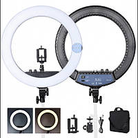Кольцевая лампа светодиодное LED кольцо на штативе Soft Ring Light HQ-18 для блогеров 45 см со штативом