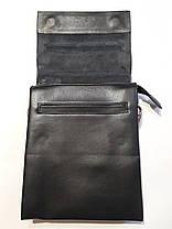 Сумка мужская черная планшет на плечо размер 22*18 см Dr.Bond GL 308-2, фото 3