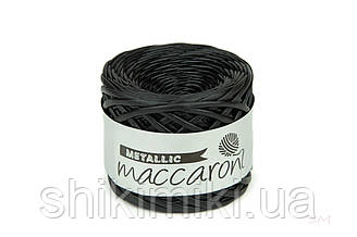 Пряжа трикотажна Maccaroni Metallic, колір Чорний
