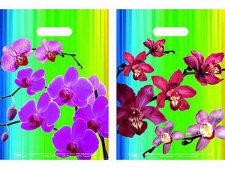 """Пакеты с вырубной ручкой (25*35+3)""""Орхидея """" ХВГ (25 шт)"""