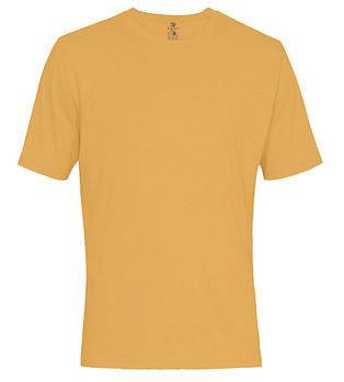 Футболка однотонная мужская, цвет оранжевый, круглая горловина