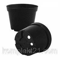 Черные горшки для рассады 19 см (3 л),  Горщик для розсади Kloda.