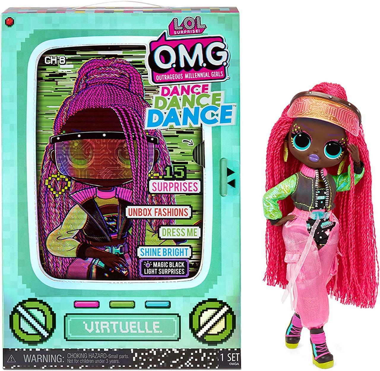 L.O.L. Surprise! O.M.G. Dance Dance Dance Virtuelle Fashion Doll - 15 Surprises (Віртуаль), 6+ (117865)