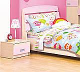 Тумба прикроватная в детскую комнату из ДСП и МДФ Терри Клен/Розовый глянец Світ меблів, фото 2