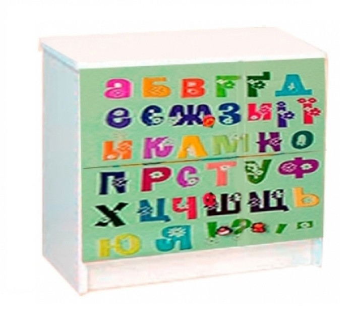 Тумба прикроватная в детскую комнату из ДСП Мульти Алфавит Світ меблів