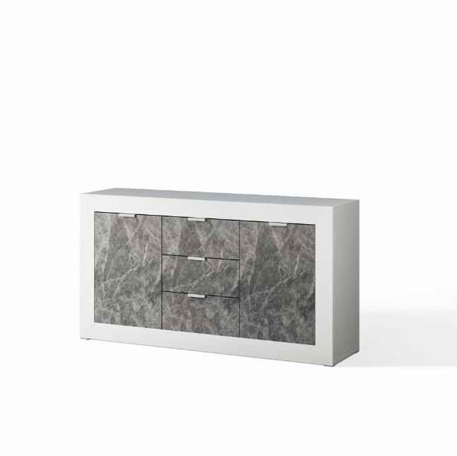 Комод до вітальні з ДСП Прага 1.6 Білий/Індастріал Світ меблів