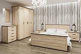 Комод в спальню з ДСП Палермо 5Ш Дуб сонома Світ меблів, фото 3