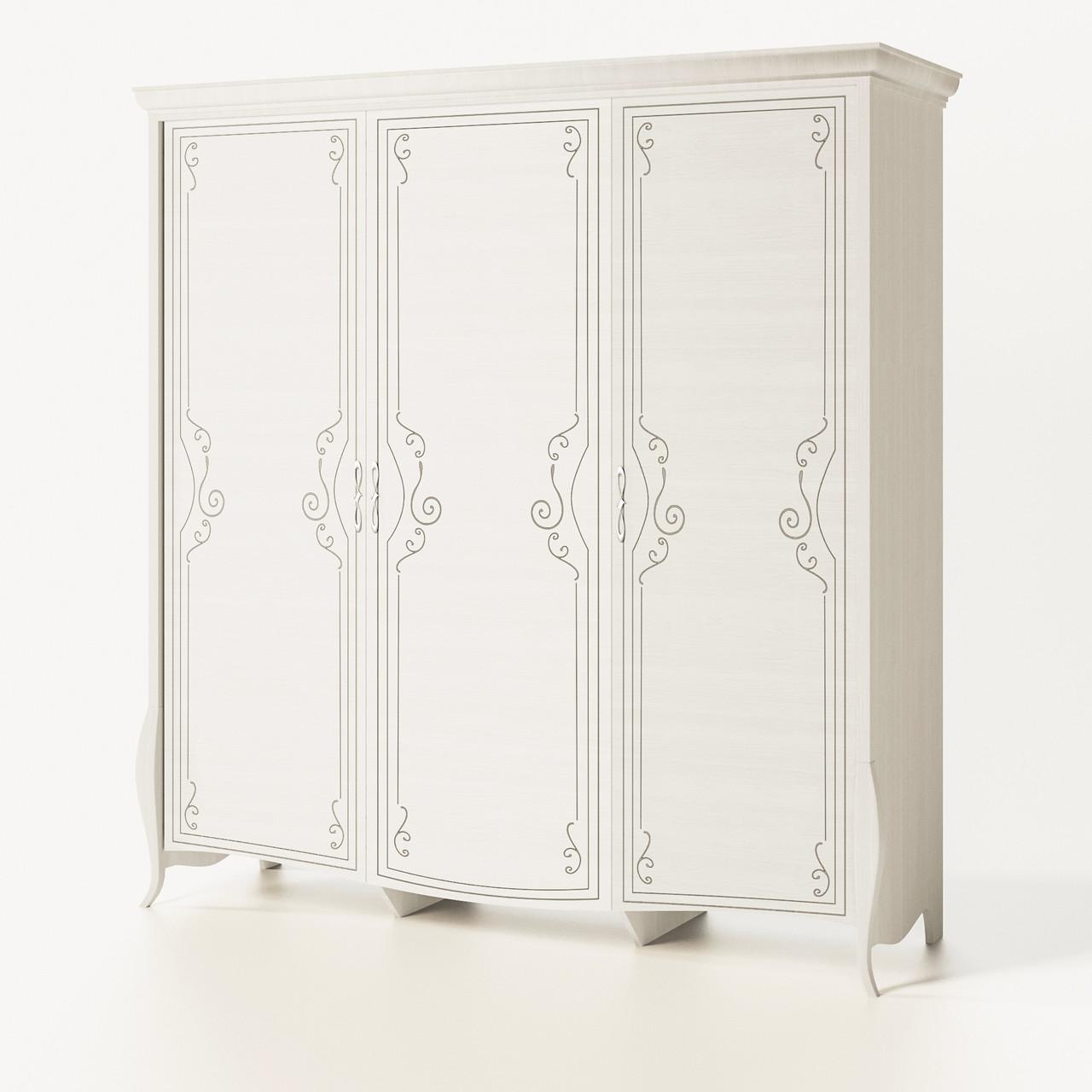 Шкаф распашной из ДСП Тереза 3Д Ясень белый Світ меблів